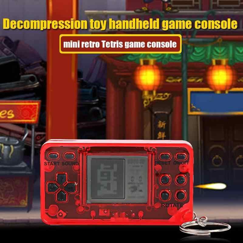 ミニコンソールハンドヘルドゲームプレーヤーレトロなノスタルジックなキーホルダーテトリスビデオゲーム機サポートドロップシッピング