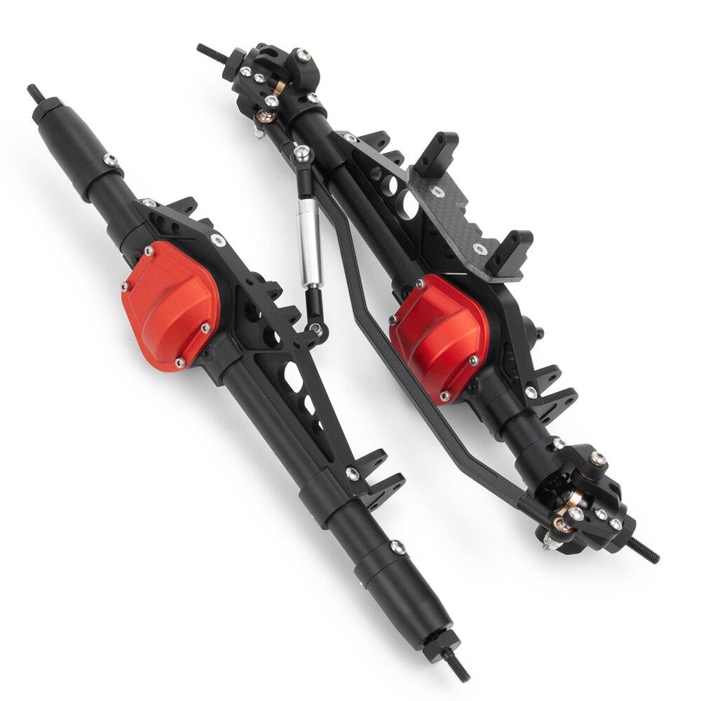 1/10 gąsienica RC samochód pełen ze stopu przedniej i tylnej osi dla Wraith 90018 osiowa w Części i akcesoria od Zabawki i hobby na  Grupa 1