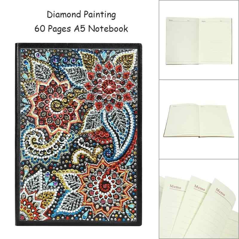 Newst Diy Flower Special Shaped Diamond Painting 60 Pages A5