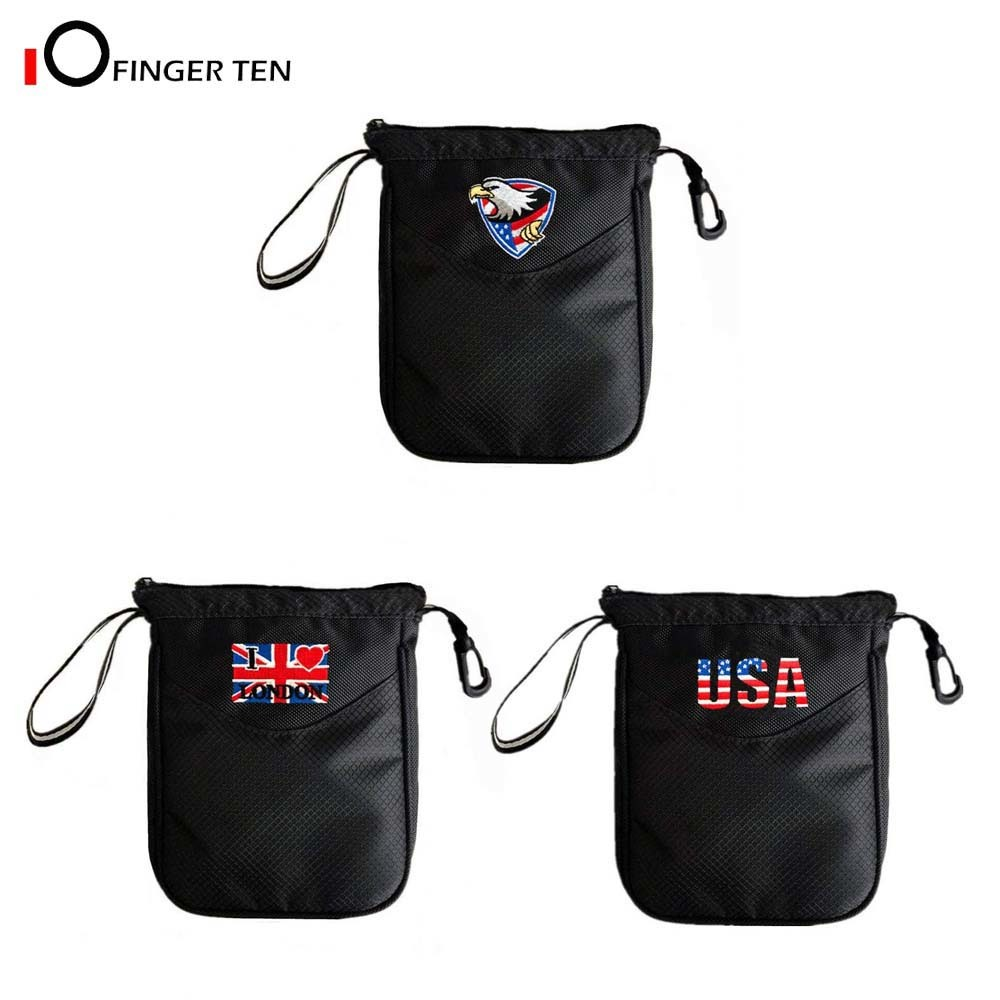 Golf Pouch Bag Multi Pocket Clip Zipper Hook To Bag Durable Nylon Valuables Holder For Men Women