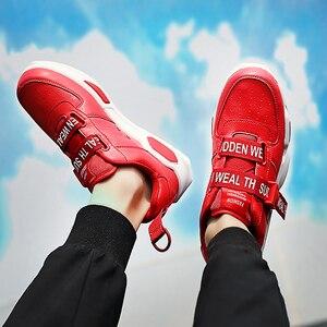Image 4 - 남자의 Chunky 스 니 커 즈 버클 스트랩 슈퍼 스타 캐주얼 신발 소년 실행 신발 남자 신발 트레이너 vulcanized 녹색 크기 11