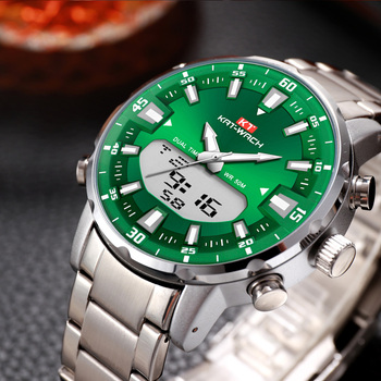 2020 Wach Watches Mens Top Brand Luxury Green Fashion Chronograph Male Sport Waterproof All Steel Quartz Clock Relogio Masculino - discount item  48% OFF Men's Watches
