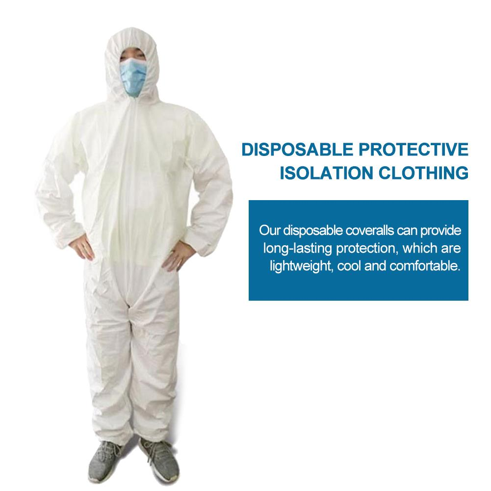 Disposable Protection Gown Dust Spray Suit Siamese Non-woven Dust-proof Anti Splash Clothing Safely Protection Clothes