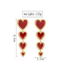 Elegant Enamel Love Heart Dangle Drop Earrings Valentines Day Fashion Jewelry H8WF woodgrain heart pattern valentines day door stickers