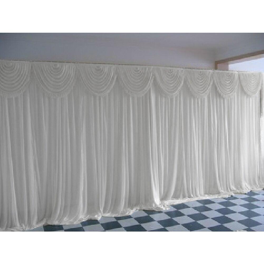 Divisor de parede voile com faixa 2x2m, decoração para festa de casamento com cinto romântico para fundos de decoração de teto do palco painel de cortina