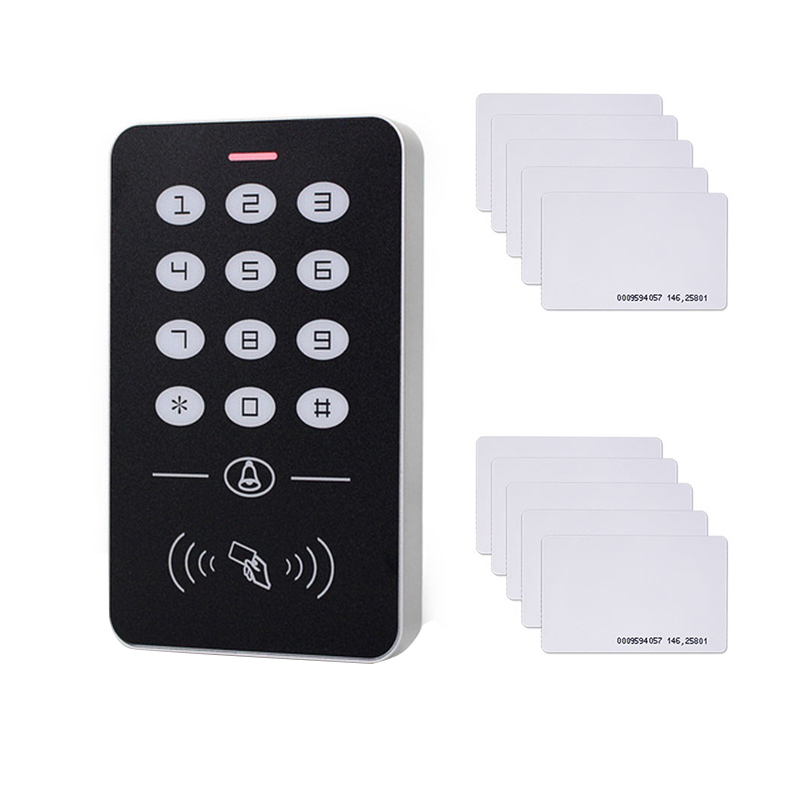 DC12V Electronic Access Control Keypad RFID Card Reader Access Controller With Door Bell Backlight For Door Security Lock System