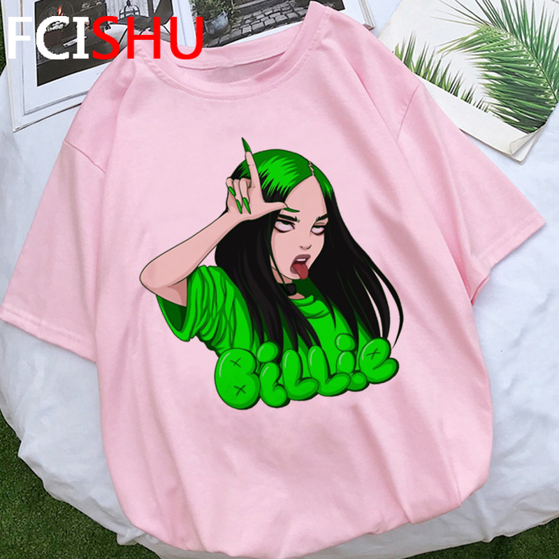 Billie Eilish Bad Guy Graphic T Shirt Men Unisex No Time To Die Aesthetic T-shirt Summer Fashion Tshirt Hip Hop Top Tees Male