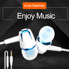 1pcs universal mobile phone headset in-ear mobile 3.5mm Jack Wired Headset for PUBG Gamer Gaming Hea
