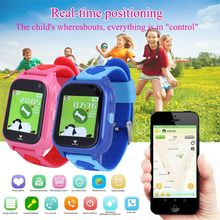 Kids Locator Smart Watch Telephone SOS Anti-Lost Waterproof Watch Fashion children kid smart watch with GPS telephone function(China)