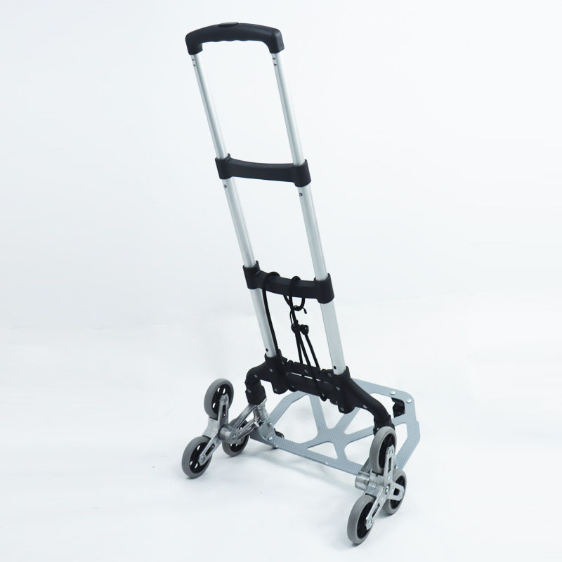 Folding Hand Truck Aluminum Alloy Portable Luggage Cart 220LB Load Capacity Moving Equipment Great for Boxes & Luggage