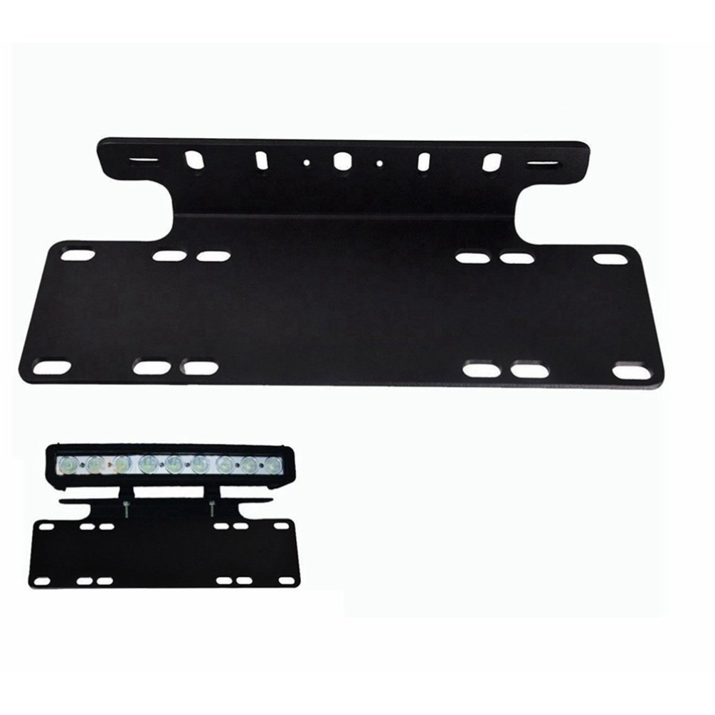 Universal Front Bumper License Plate Car Mount Stand Holder Bracket Offroad Light Bar For Work Light Truck Plate Bracket
