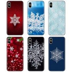 Прекрасный силиконовый чехол со снежинками для телефона Huawei P8 P9 P10 P20 P30 P Smart 2019 Honor Mate 9 10 20 8X 7A 7C Pro Lite