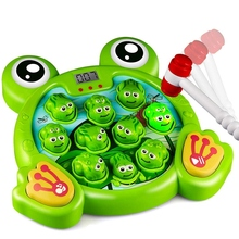 Whack-A-Frog Game Toddler Toys with 2 Hammers for Baby, Early Learning Durable Pounding Toy for Kids Ages 2-8 Boys Girls