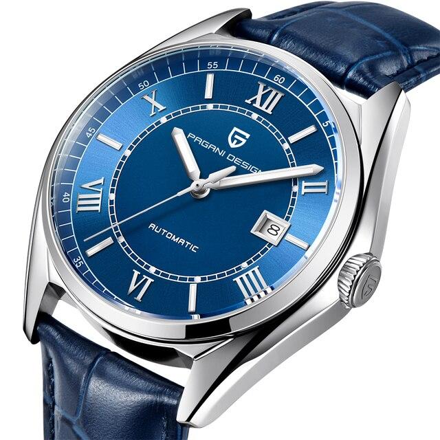 パガーニメンズ高級ファッション自動機械式時計男性スポーツ防水本革腕時計レロジオ Masculino