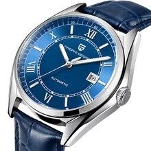 PAGANI мужские роскошные модные автоматические механические часы мужские спортивные водонепроницаемые часы из натуральной кожи Relogio Masculino