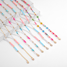 Chain Straps Cord-Holder Mask Lanyard Necklace Eye-Beads Sungalsses Evil Colorful Women