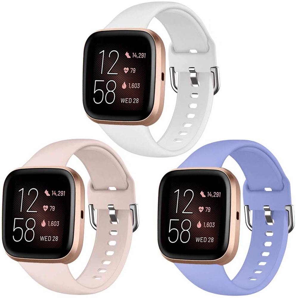 Сменный ремешок для Fitbit Versa/Versa, 2 регулируемых ремешка, Аксессуары для браслета Fitbit Versa 2, силиконовый ремешок для смарт-часов