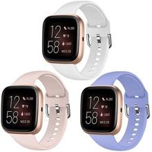 Yedek kayış Fitbit Versa için/Versa 2 bant ayarlanabilir aksesuarları bileklik Fitbit Versa için 2 silikon akıllı saat kayışı