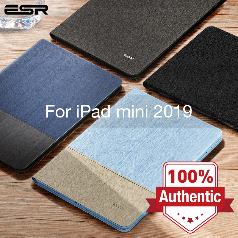 ESR <font><b>Case</b></font> for <font><b>iPad</b></font> <font><b>mini</b></font> <font><b>5</b></font> <font><b>2019</b></font> Oxford Cloth PU <font><b>Leather</b></font> Smart Book Cover Auto Sleep/Wake Stand Folio <font><b>Case</b></font> for <font><b>iPad</b></font> <font><b>mini</b></font> <font><b>5</b></font> 7.9