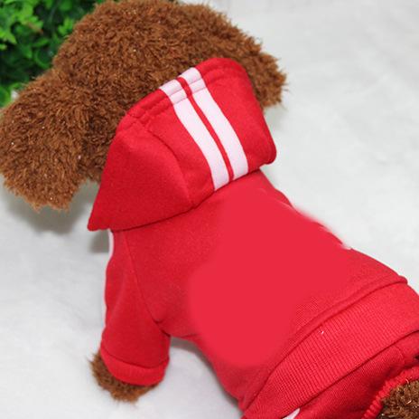 PUOUPUOU Winter Warm Pet Dog Clothes Hoodies Sweatshirt for Small Medium Dogs French Bulldog Sweet Puppy Dog Clothing XS-XXL 9
