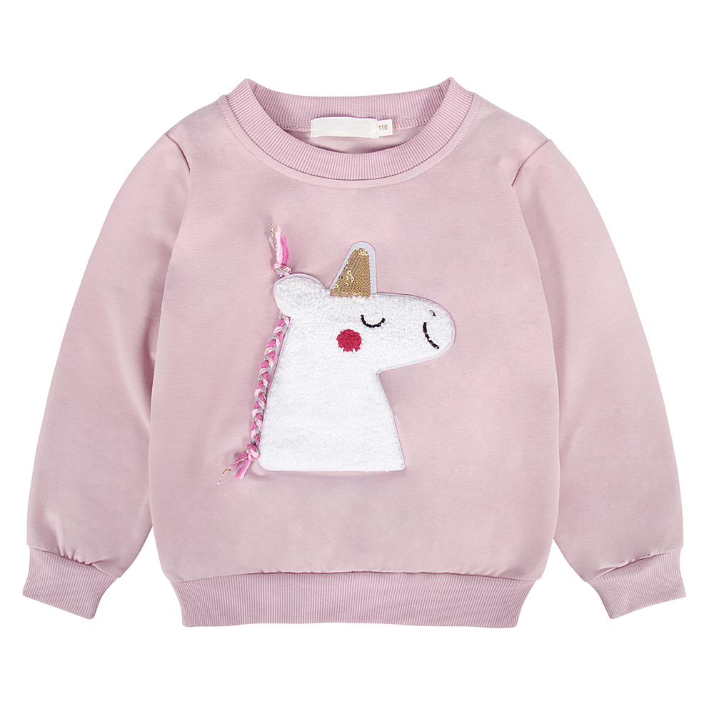AmzBarley Girls Sweatershirts Cotton Unicorn Sweater Kids Long sleeves Autumn winter clothes Toddler Casual outfits