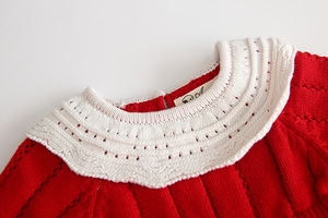 Image 4 - 2009 New Baby Bodysuit Kind Of Infant Knitted Conjoined Suit Female Baby Doll Collar Long Sleeve Pure Cotton Climbing
