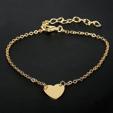 Heart Charm Bracelets For Women Gold Silver Color Metal Chain Bracelets Friendship Love Bracelets Hot Sale Jewelry Wholesale cheap candycat zinc Alloy TRENDY 17030401 None Easy-hook High Quality Fashion Trendy Charm Simple Daily Wear Travel Party Gift