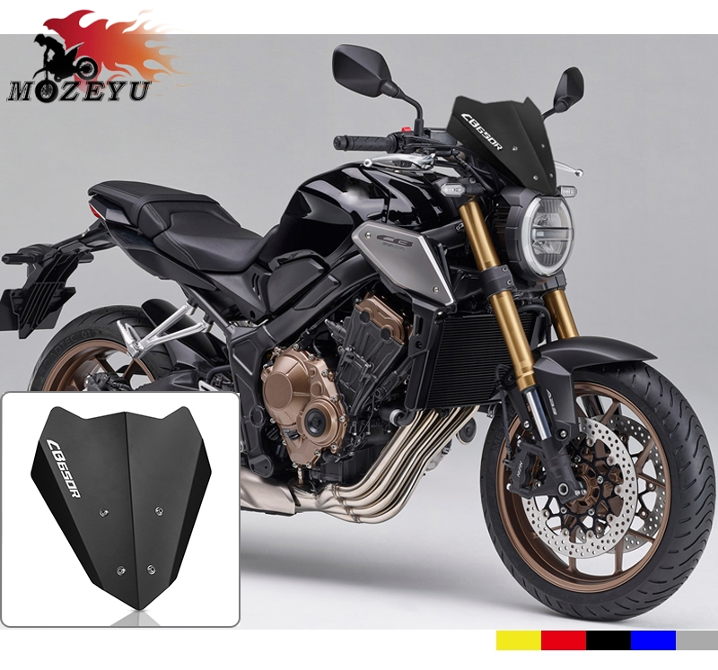 CNC High Quality Aluminum Motorcycle Windshield For HONDA Hornet CB650R CB 650R 2018-2019 Motorbike Wind Screen Extention Kit