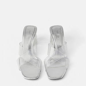 Summer Block Heel Women Transp