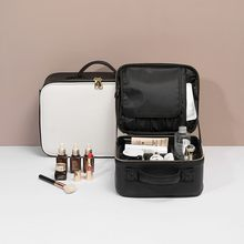 2020 Fashion Women Makeup Organizer Large Capacity Multilayer Clapboard Cosmetic