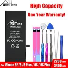 PINZHENG yüksek kapasiteli pil iPhone için SE 6 artı 6S artı yedek Bateria iPhone 6 artı 6sPlus SE piller