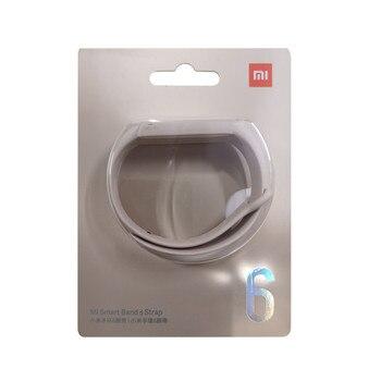 100% Original Xiaomi mi band 6 5 strap silicone bracelet Mi band6 Yellow Strap wrist XiaoMi Mi Band 5 replacement silicone strap 14