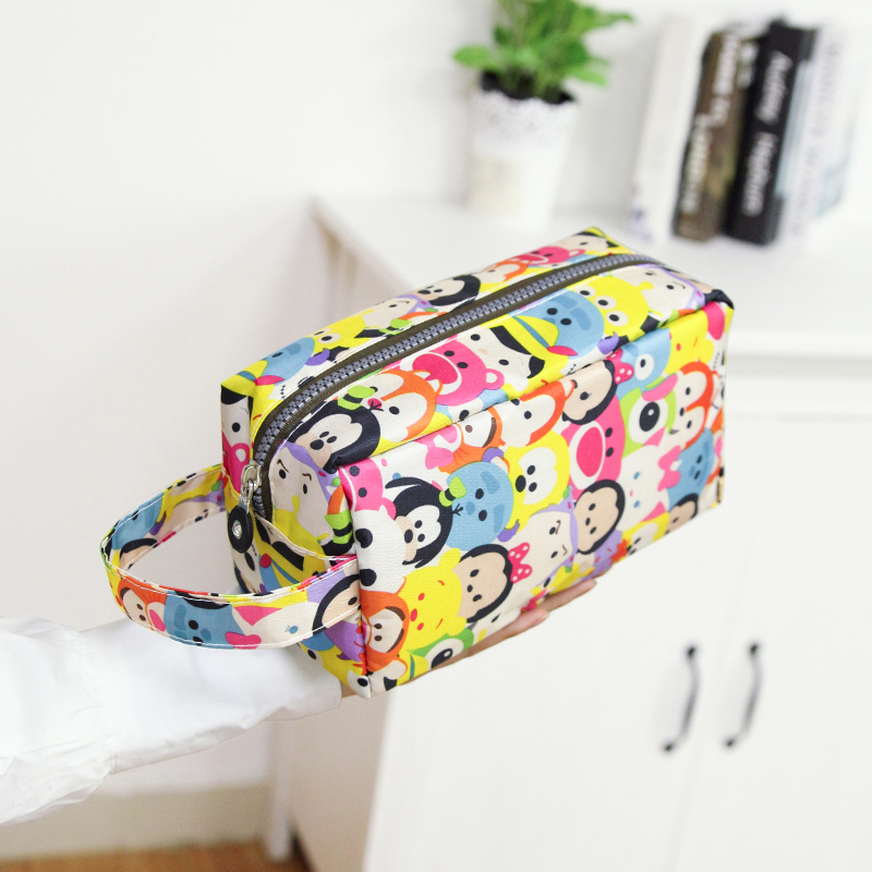 Portable Lipstick Travel Cosmetic Bag Women Cartoon Cases Make Up Toiletries Organizer Lightweight Waterproof Storage Handbags