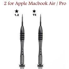 Chave de fenda pentalobe, precisão, t5 torx p5 1.2mm, para macbook air pro, retina, laptop, ferramenta de reparo e abertura, ferramentas manuais