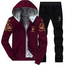 Winter Inner Fleece Hoodies Men 2019 Casual Hooded Warm Sweatshirts Ma