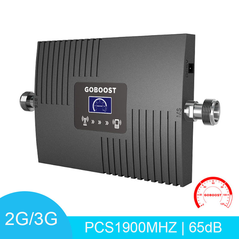 Mini 4G Signal Booster LCD Display PCS 1900mHz Band 2 Mobile Phone Signal Amplifier Cellular Amplifier Repeater