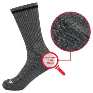 Image 4 - YUEDGE Men Comfortabl Breathable Cotton Cushion Black Crew Athletic Training Trekking Hiking Sports Socks 6 Pairs 38 47 EU