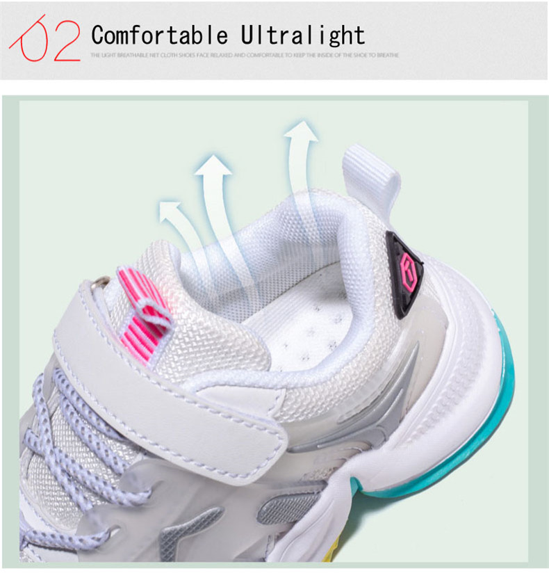 2020 Autumn sneakers Children Sports shoes for Girls students breathable kids sport shoes for girls non-slip sneakers shoes girl