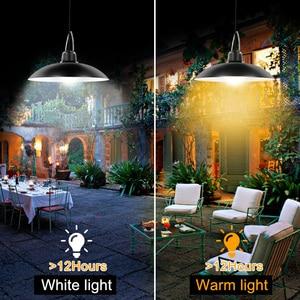 Image 4 - סככת שמש אורות חיצוני מקורה 16 LED שמש תליון אור מנורה לקמפינג תאורה עמיד למים עבור גן חצר קישוט