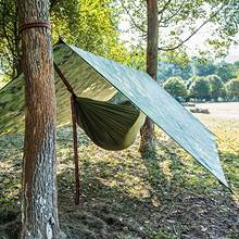 Multifunctional Waterproof Hammock Rain Fly Camping Tent Tarp Shelter Cover Awning Canopy for Outdoor Beach Picnic 91x55in