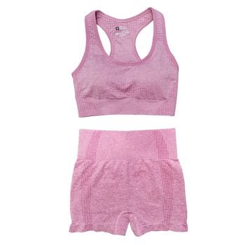 Seamless Women Vital Yoga Set Workout Shirts Sport Pants Bra Gym Clothing Short Crop Top High Waist Running Leggings Sports Set 17