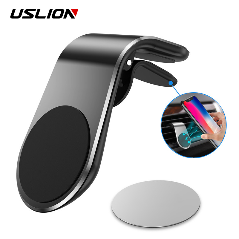 USLION Magnetic Car Phone Holder Air Vent Clip Mount Stand in Car For iPhone 11 Samsung S10 S9 Magnet GPS Mobile Phone Holders