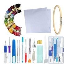 DIY Magic Embroidery Stitching Punch Needle Tool Pen with Case Sets Craft Sewing for