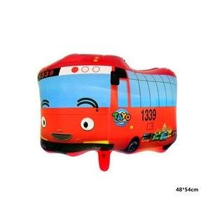 Пикапы автомобиль фольги воздушный шар с днем рождения украшение большой Танк Поезд полицейские автомобили пожарный автомобиль Детский шар игрушка для мальчиков