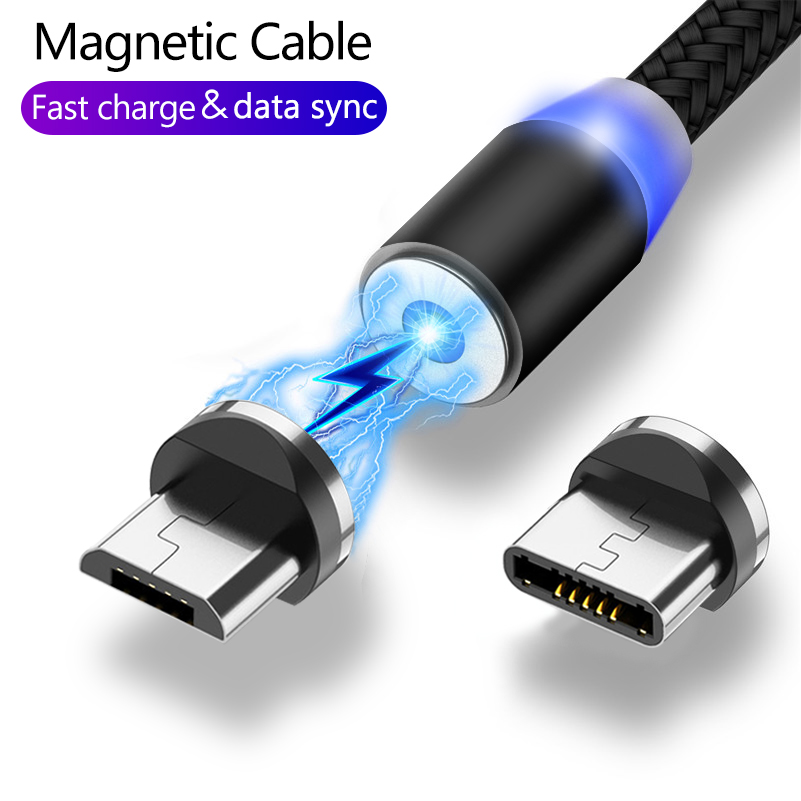 Magnetic USB Cable Fast Charging USB Type C Cable Magnet Charger Data Charge Micro USB Cable For Huawei Mobile Phone Cable Cord