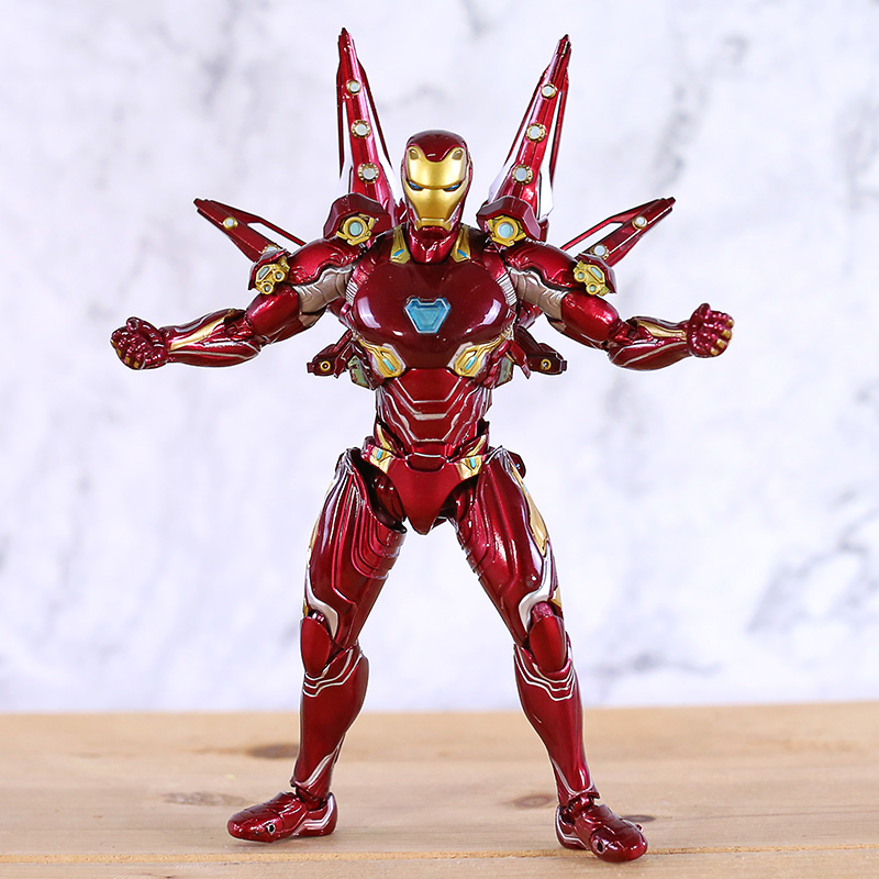 SHF Marvel Avengers 4 Endgame Iron Man MK50 Nano Weapon Set 2 Action Figure Model Toys Doll For Gift