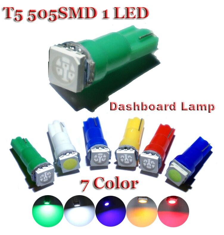 100X Белый t5 led белый инструмент лампы автомобильной двери клин Калибр лампа для чтения панель с предупреждающим индикатором лампы 12 В