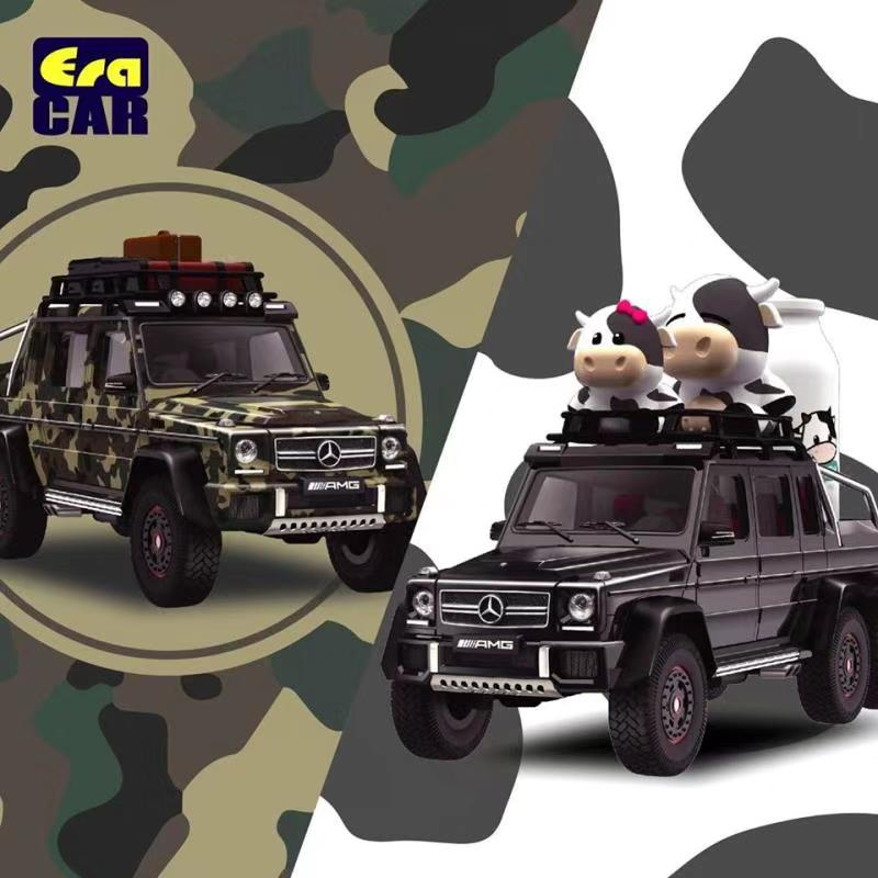 Era Car 1:64 AMG G63 6 X 6 Dairy Cattle Family Desert Version