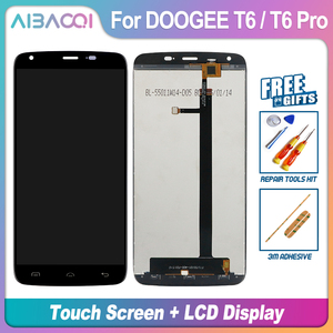 Image 3 - AiBaoQi New Original 5.5 inch Touch Screen+1280X720 LCD Display+Frame Assembly Replacement For Doogee T6/T6 Pro Android 6.0