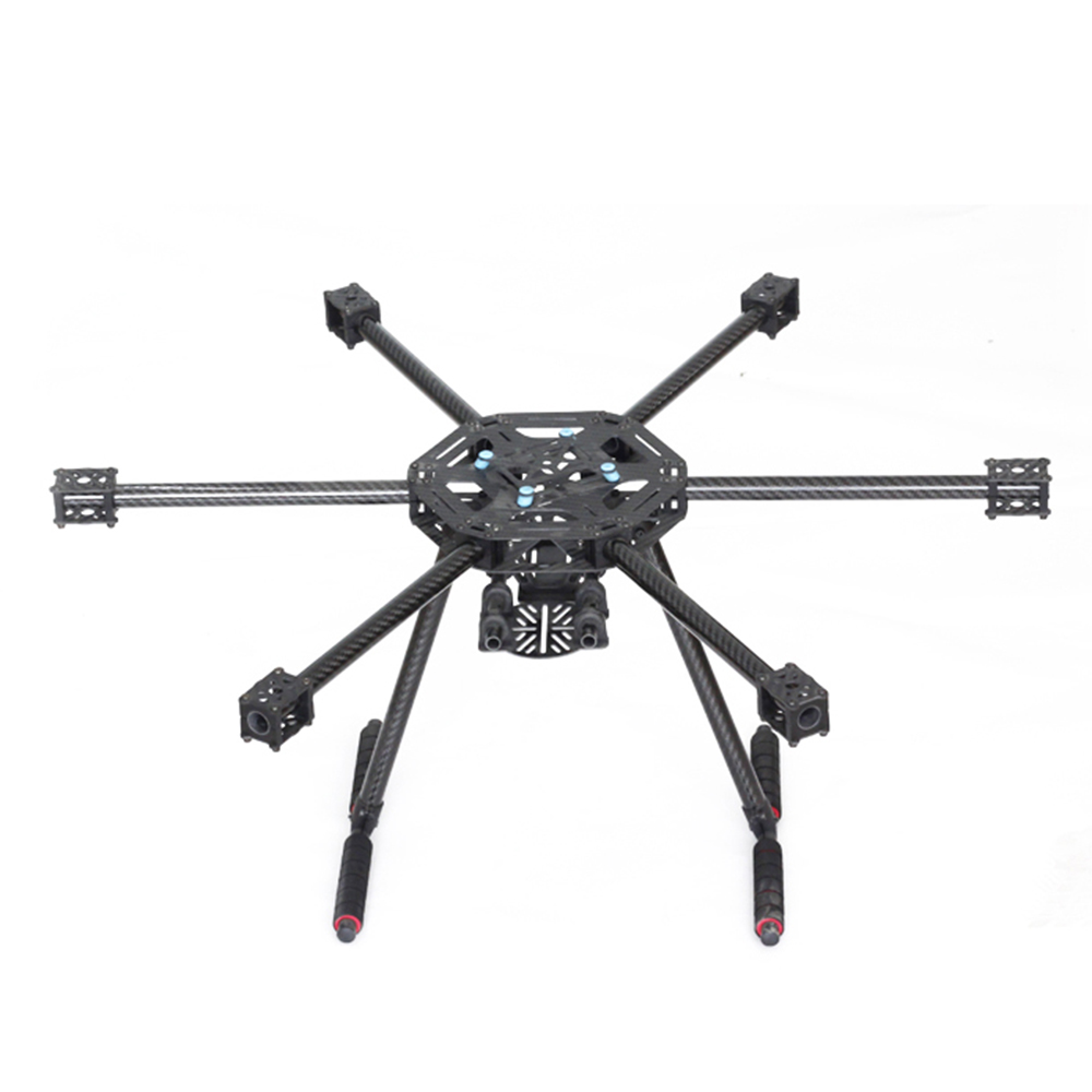 LJI X600-X6 X6 600mm X600 FPV Hexacopter Frame With Carbon Fiber Landing Gear Skid Upgraded Version For F450 S550 RC Multicopter